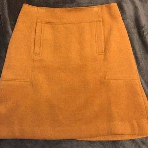 Wool dark camel skirt